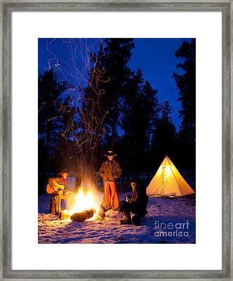 Sparks Of Inspiration Framed Print by Inge Johnsson