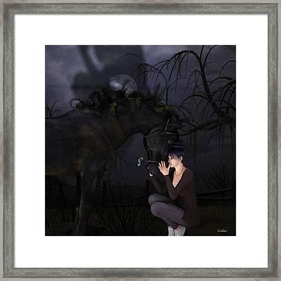 Sparky 2 Framed Print by Denice Thomson