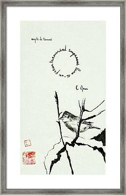 Sparrow In Autumn Framed Print
