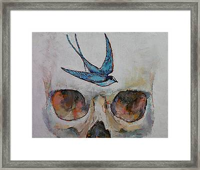 Sparrow Framed Print by Michael Creese