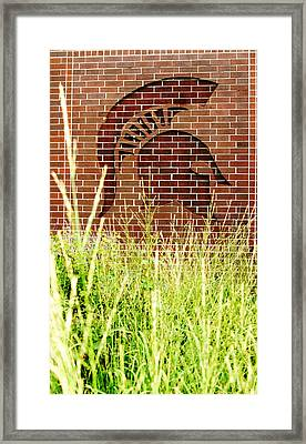 Sparty On The Wall Framed Print by John McGraw