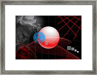 Spatial Geometry. Framed Print