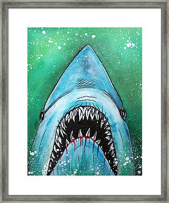 Spawn Of Jaws Framed Print by Laura Barbosa