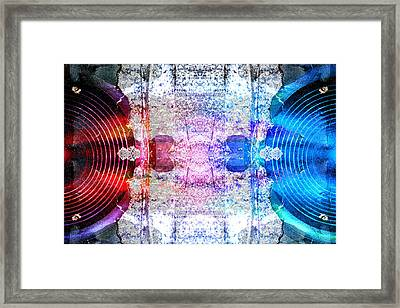 Speakers 3 Framed Print