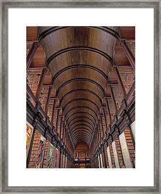 Speaking Shelves Of Trinity College Framed Print