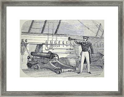 Speaking Trumpet Framed Print by Universal History Archive/uig