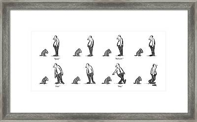 Speak. Roll Over. Heel. Stay Framed Print by Robert Weber
