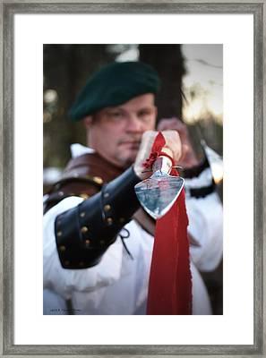 Spear Of The Scot Framed Print by Tara Potts