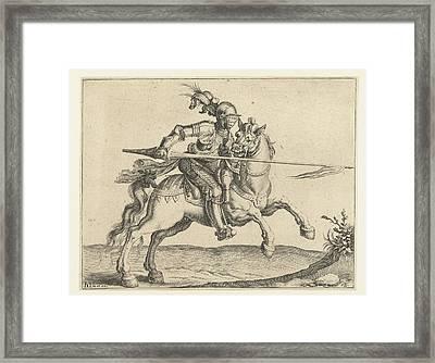 Spear Rider, Offensive Right, Jacob De Gheyn II Framed Print by Jacob De Gheyn (ii)