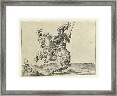 Spear Rider With Open Visor, Jacob De Gheyn II Framed Print by Jacob De Gheyn (ii)