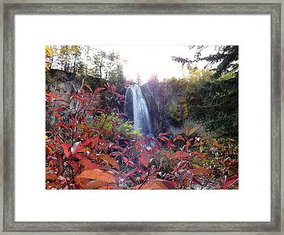 Spearfish Falls Framed Print