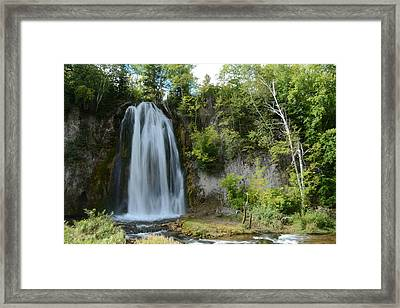 Spearfish Falls In Early September Framed Print
