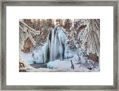 Spearfish Falls Framed Print by Jana Thompson