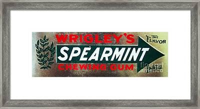 Spearmint Gum Sign Vintage Framed Print