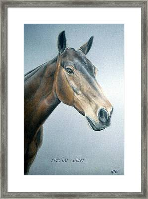 Framed Print featuring the painting Special Agent by Rosemary Colyer