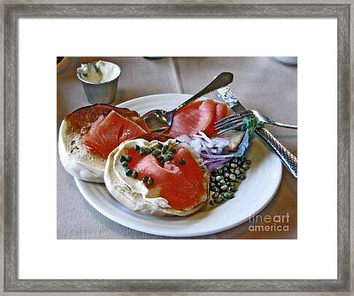 Special Birthday Breakfast Framed Print by Chris Anderson