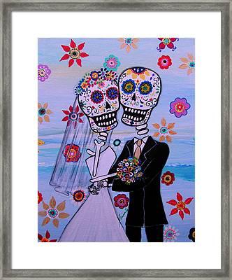 Special Day Dia De Los Muertos Wedding Framed Print by Pristine Cartera Turkus