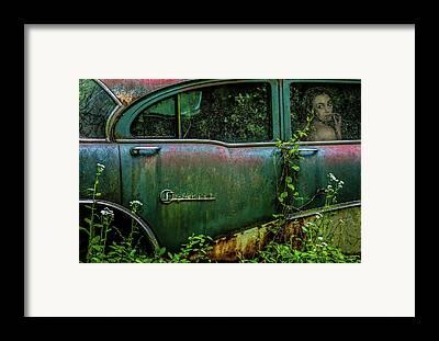 Abandoned Car Framed Prints