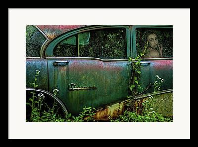 Abandoned Cars Framed Prints