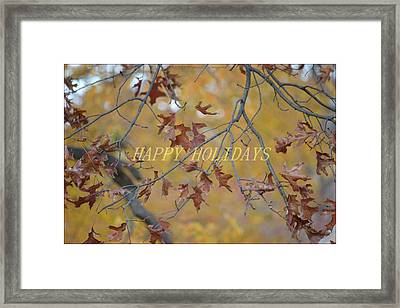 Special Holiday Greetings Framed Print