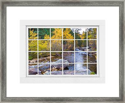 Special Place In The Woods Large White Picture Window View Framed Print