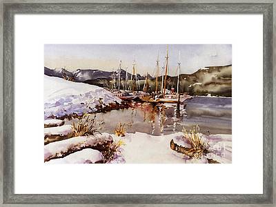 Special Winter In Vancouver Framed Print
