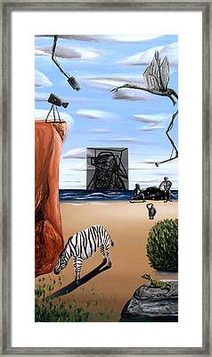 Species Differentiation -darwinian Broadcast- Framed Print by Ryan Demaree