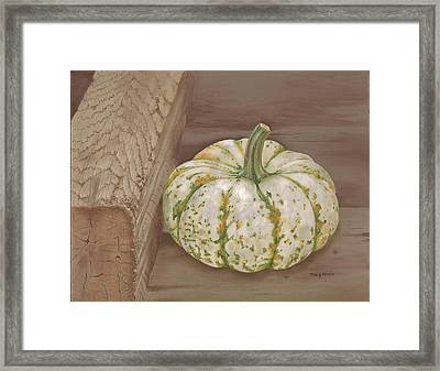 Speckled Gourd Framed Print by Tracy Meola
