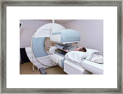 Spect Computed Tomography Scanning Framed Print by Dr P. Marazzi/science Photo Library