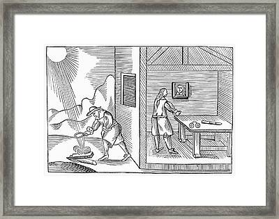 Spectacle Maker, 1659 Framed Print