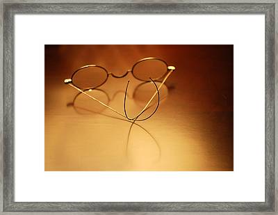 Spectacles At Rest Framed Print by Mary Beth Landis
