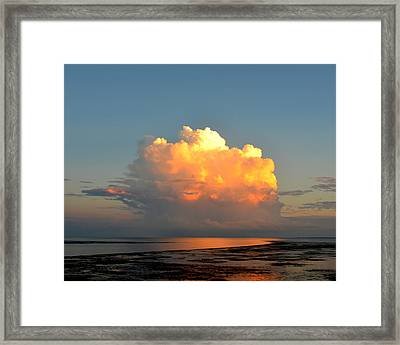 Spectacular Cloud In Sunset Sky Framed Print