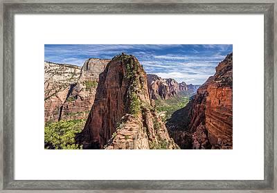 Spectacular Hike Angel's Landing Zion Framed Print