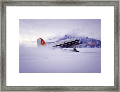 Spectacular Landing Framed Print by Joan Carroll