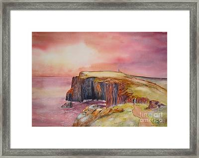 Spectacular On The Isle Of May Scotland Framed Print