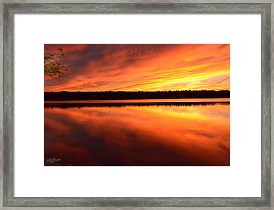 Spectacular Orange Mirror Framed Print