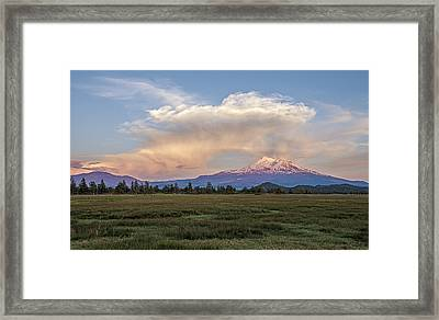 Spectacular Shasta Valley Sunset Framed Print