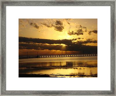Framed Print featuring the photograph Spectacular Sunrise Two by Linda Cox