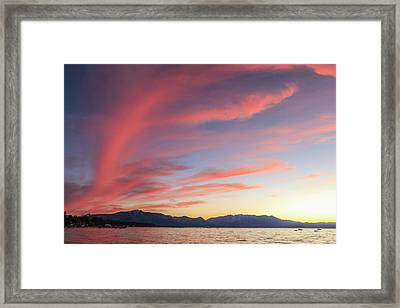 Spectacular Sunset Colors Framed Print