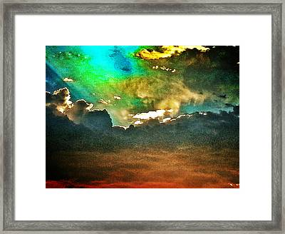Spectacular Sunset Framed Print by Terry Atkins