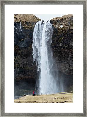Spectacular Waterfall In Iceland Framed Print by Dr Juerg Alean