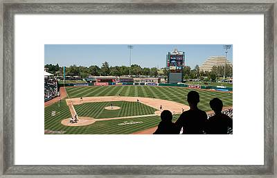 Spectator Watching A Baseball Match Framed Print
