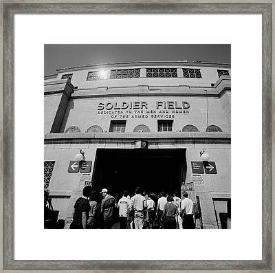 Spectators Entering A Football Stadium Framed Print by Panoramic Images