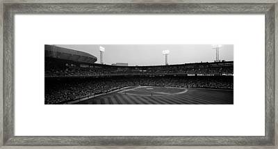 Spectators In A Baseball Park, U.s Framed Print