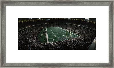 Spectators In An American Football Framed Print