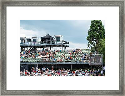 Spectators Of The Atp Trophy In Stuttgart - Germany Framed Print by Frank Gaertner