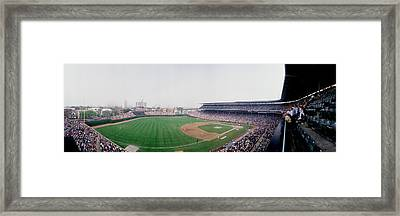 Spectators Watching A Baseball Mach Framed Print by Panoramic Images