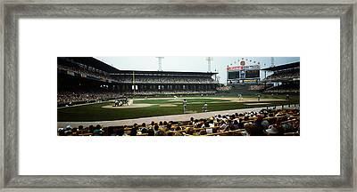 Spectators Watching A Baseball Match Framed Print