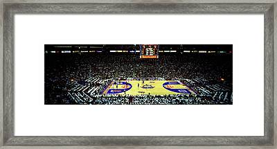 Spectators Watching A Basketball Game Framed Print