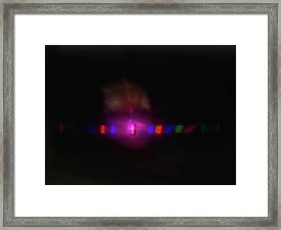 Spectrum Of Light Caused By Light Framed Print